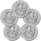 Lot of 5 2017 Great Britain 2 oz Silver Queens Beasts The Dragon 5 SKU46055