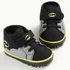 Newborn Baby Kids Boys Cute Cartoon First Walkers Batman Lace Up Sneakers Shoes
