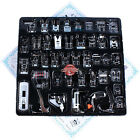 42 PCS Domestic Sewing Machine Foot Feet Snap On For Brother Singer Set US