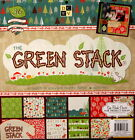 DCWV 12 x 12 The Green Stack Specialty Textured Cardstock Scrapbook Paper Pad