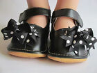 Toddler Shoes Squeaky Shoes Black with Dot Bows Mary Jane Up to Size 7