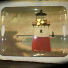 'By the SEA' SERVING TRAY Sakura Evolutions David Carter Brown Lighthouses 19X14