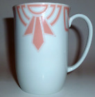 FITZ FLOYD CHINA THE RITZ PEACH GEOMETRIC MUG