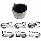 Butler Clips in the Home Animal Cat Shaped Paper Clips 40 Count in Silver Tin or
