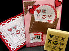 Stampin Up Cutest EVER retired stamp TIC TAC TOE 4 LOADS OF LOVE Valentines +++