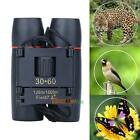 Portable HD Day Night Vision 30x60 Zoom Travel Folding Binoculars Telescope+Case
