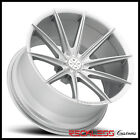 22 BLAQUE DIAMOND BD11 DEEP CONCAVE SILVER WHEELS RIMS FITS INFINITI FX35 FX45