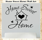 Home Sweet Wall Quote Sticker Art Vinyl Decor Stickers Words  Phrase Decal 018