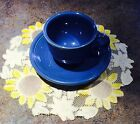 Contemporary Fiestaware Blue Lapis Cup & Saucer. Part of place setting.  Unused!