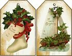 12 HAND GIFT TAGS SCRAPBOOK CHRISTMAS VINTAGE IMAGES 812 A