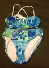 Catalina Swiimsuit Floral Top & Bottom Girls Size 12 Worn Once