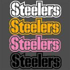 Pittsburgh Steelers Decals Gold White Pink