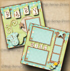 BABY MINE BOY 2 premade scrapbook pages paper piecing layout BY DIGISCRAP A0066