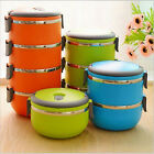 Stacking Bento Lunch Box Insulated Stainless Steel Food Carrier Containers
