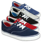 mens Crosshatch trainers lace up canvas sneakers shoes casual pumps plimsolls