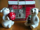 Coca Cola Salt & Pepper Set Bear Cubs Gibson new original box