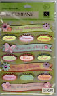 K  Company SPARKLY WORDS  PHRASES Grand Adhesions embellishment set Quick Ship