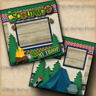 BOY or CUB SCOUTS 2 premade scrapbook pages paper piecing BY DIGISCRAP A0116