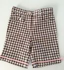 NWOT ICE CREAM SOCIAL Line Brown And White Checked Bermuda Shorts 4T