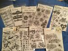 Autumn Leaves Clear Stamps words phrases swirls flourishes dates baby hea