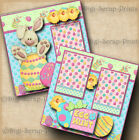 EASTER EGG HUNT 2 premade scrapbook pages paper layout scrapbooking DIGISCRAP