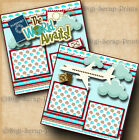 VACATION 2 premade scrapbook pages paper piecing TRAVEL layout 4 album DIGISCRAP