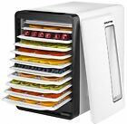 Gourmia GFD1850 Food Dehydrator With Touch Digital Temperature Control, Ten and
