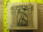 Rubber Stamp Christmas Stockings On Fireplace Mantle Stampinsisters 3988