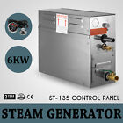 6kw Steam Generator Sauna Steamer For Home Spa Shower Bath With ST 135m Control