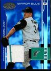 2003 LEAF CERTIFIED MATERIALS MIRROR BLUE MATERIALS 67 BRAD PENNY JERSEY 100