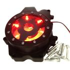RED LED see through Engine Stator cover for 03-06 Yamaha YZF R6 03-09 R6S BLACK