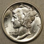 1917-D Mercury Dime, Choice Uncirculated, Close to Full Bands    0201-07