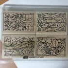 Stampin Up Stained Glass 4 Rubber Stamps 1998 NEW