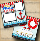 CRUISE vacation 2 premade scrapbook pages paper piecing printed DIGISCRAP A0171