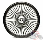 21 x 35 48 Fat King Spoke Front Wheel Black Rim Harley Touring Bagger 00 2007