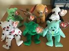 TY Beanie Babies Lot 7 ARIEL, ERIN, GLORY, FORTUNE, HOPE, SCORCH, KICKS: MINT