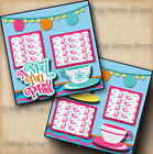 MAD TEA PARTY RIDE DISNEY premade scrapbook pages paper piecing LAYOUT DIGISCRAP