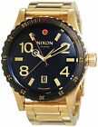 Nixon Diplomat SS A277513 Black Dial Gold Tone Ion-Plated Stainless Steel Band