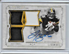 2014 TOPPS MUSEUM COLLECTION LE'VEON BELL AUTO SIGNATURE TRIPLE PATCH GOLD 9 25