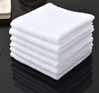 60 pack new white 12x12 100% cotton hotel gym cleaning washcloths wash cloths