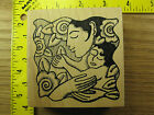 Rubber Stamp Mother Holding Child Baby Stamp Oasis Flowers Stampinsisters 985