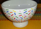 Set 4 Crate & Barrel Confetti Nancy Green Dessert Ice Cream Fruit Footed Bowls