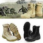 Men Military Tactical Ankle Boots Desert Combat Army Hiking Shoes Combat Duty US