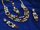 Traditional Indian Ethnic Necklae Earring Set Bollywood Fashion Designer Jewelry