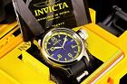New Invicta 52mm Russian Diver Swiss Blue/Green Dial SS Inserts Poly Strap Watch