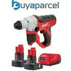 Milwaukee M12H-402c 12v Sub Compact SDS Rotary Hammer Drill M12B4 4ah Batteries