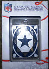 COWBOYS  NFL STAINED GLASS SUN CATCHER ORNAMENT NEW NIP