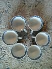 6 Vintage Alfred Meakin English Village Blue White Tea Cups Made In England
