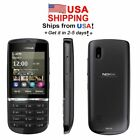 USA Seller Nokia Asha 300 3G Touch  Type 50MP Camera Phone Unlocked Grey