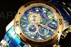 Invicta 48mm Pro Diver SCUBA ABALONE DIAL Chronograph Two Tone Gold Tone Watch!!